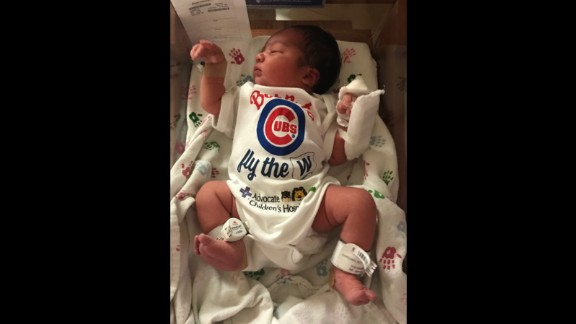 Meet the newest Chicago Cub fan, Baby Jacob.