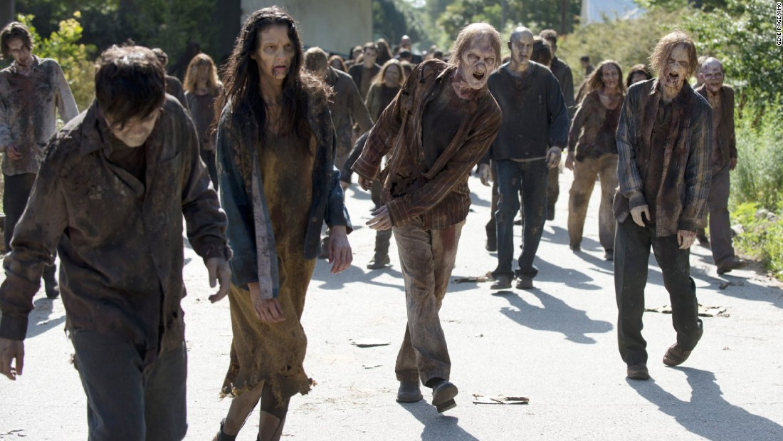 "Zombies from TV's ""The Walking Dead"" might also appeal because, when we watch the show with others, we can show them that we are tough enough to take the gore."