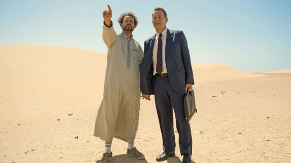"""Morocco's film studios and vibrant cities are often used as a backdrop for Hollywood films set in the desert, the Middle East and Asia.  Pictured: Tom Hanks in """"A Hologram for the King"""", in which Morocco doubled for Saudi Arabia."""