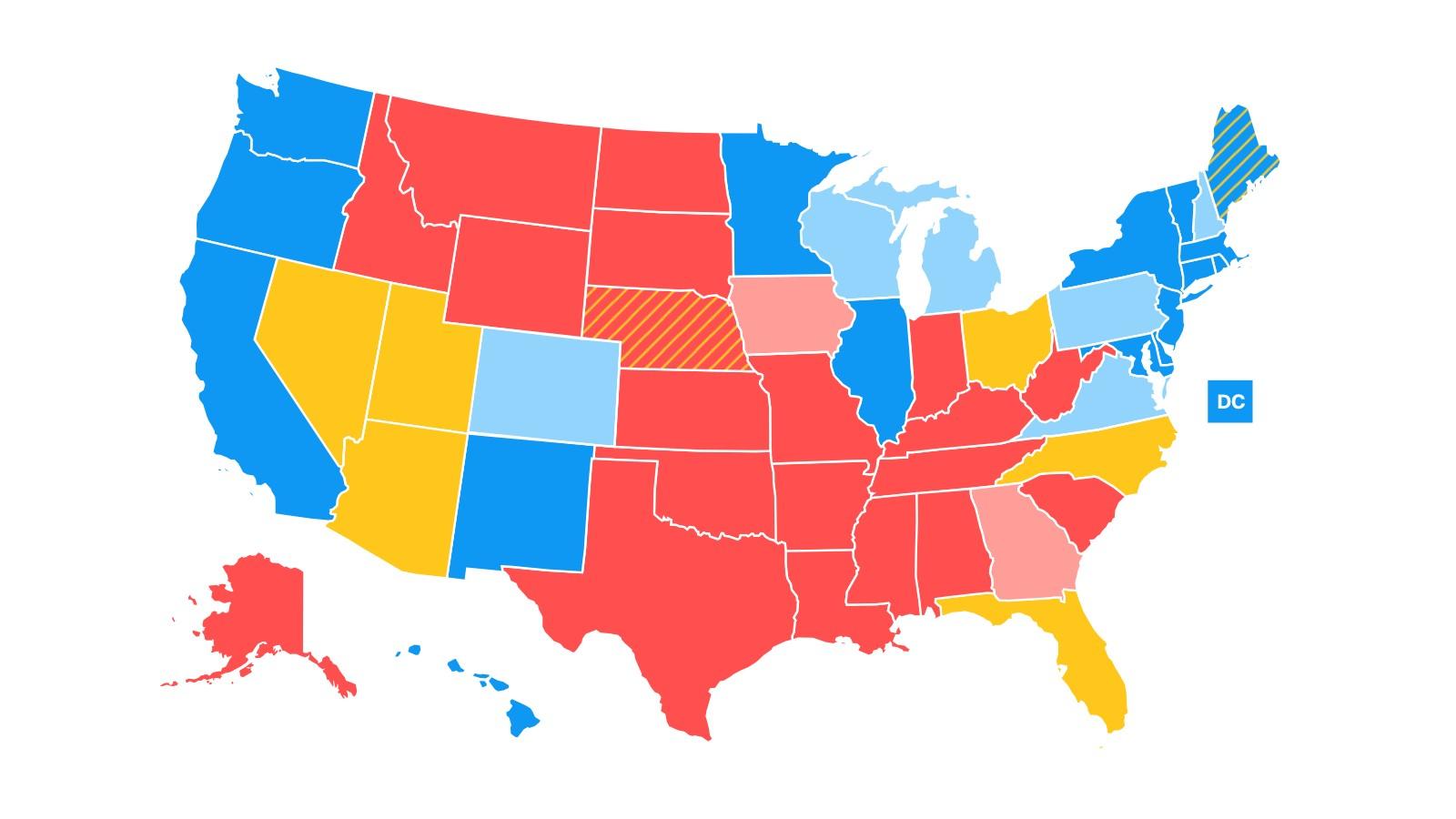 Full Map Of Florida.New Map Florida And Nevada No Longer Lean Democrat