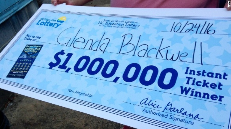 Glenda Blackwell will happily eat her words on how buying lottery tickets is a waste of money.