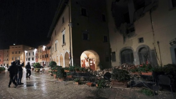 The epicenter of the first earthquake was about nine kilometers (five miles) south-southwest of Visso.