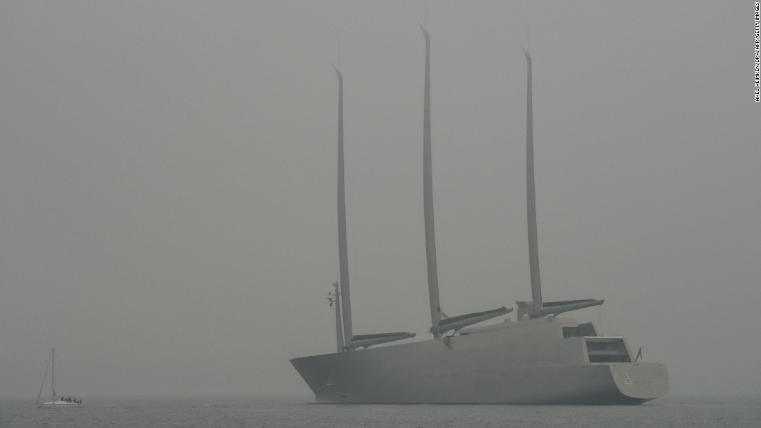 Testing for Sailing Yacht A took place off the coast of Strande, northern Germany, on October 16.