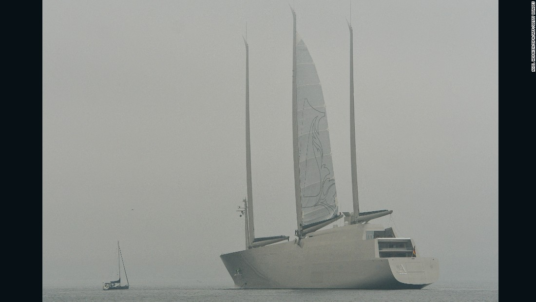 Sailing Yacht A -- seen here at the start of its sea testing -- will be one of the world's largest superyachts when it is officially delivered to owner Andrey Melnichenko in 2017.