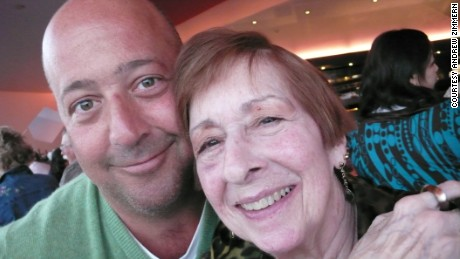 Andrew Zimmern enjoying some time with his mother Caren, who passed away in 2011.