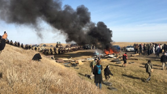 Authorities have started removing protesters in North Dakota.