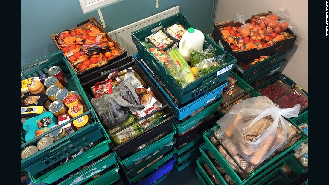 """Some [UK supermarkets] are going above and beyond in order to make sure the food gets to us, some are doing the bare minimum to donate unsold food to charities. There is a long way to go,"" said project founder Adam Smith."