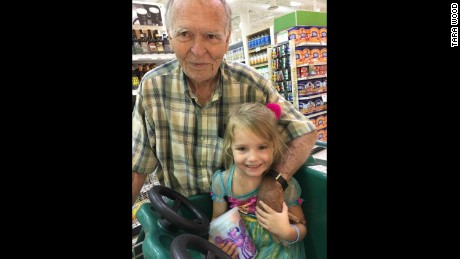 Dan Peterson and Norah Wood had a memorable encounter at a store.
