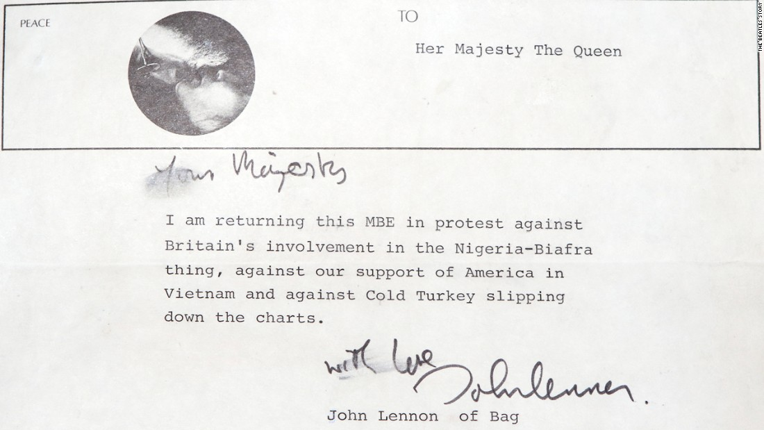 John Lennons Letter To Queen Found Tucked Inside A Record Sleeve Cnn