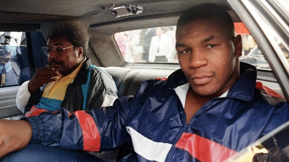Heavyweight champion Mike Tyson and the promoter Don King in 1988.