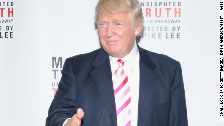 "Trump attends the ""Mike Tyson: Undisputed Truth"" Broadway Opening Night on August 2, 2012."