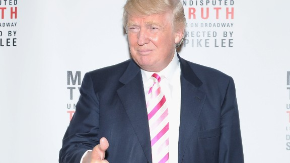 """Trump attends the """"Mike Tyson: Undisputed Truth"""" Broadway Opening Night on August 2, 2012."""