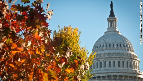 The dome of the US Capitol building is seen on a sunny autumn afternoon in Washington on November 3, 2013.