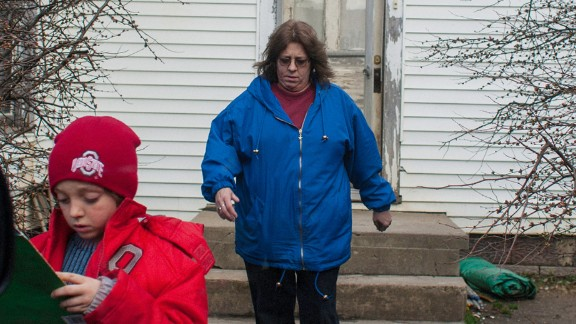 Jessie Sellers Jr. leaves home with his mother in 2007.