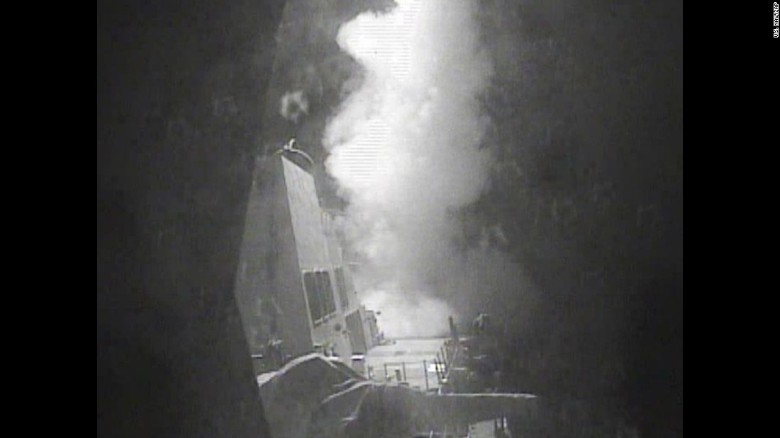 "The USS Nitze, a guided-missile destroyer, <a href=""http://www.cnn.com/2016/10/13/politics/yemen-us-strike-iran-houthis/"" target=""_blank"">launches a strike</a> on Houthi-controlled radar installations in Yemen on Thursday, October 13. Officials emphasized that it was a retaliatory action for two incidents where missiles were fired at U.S. Navy ships."