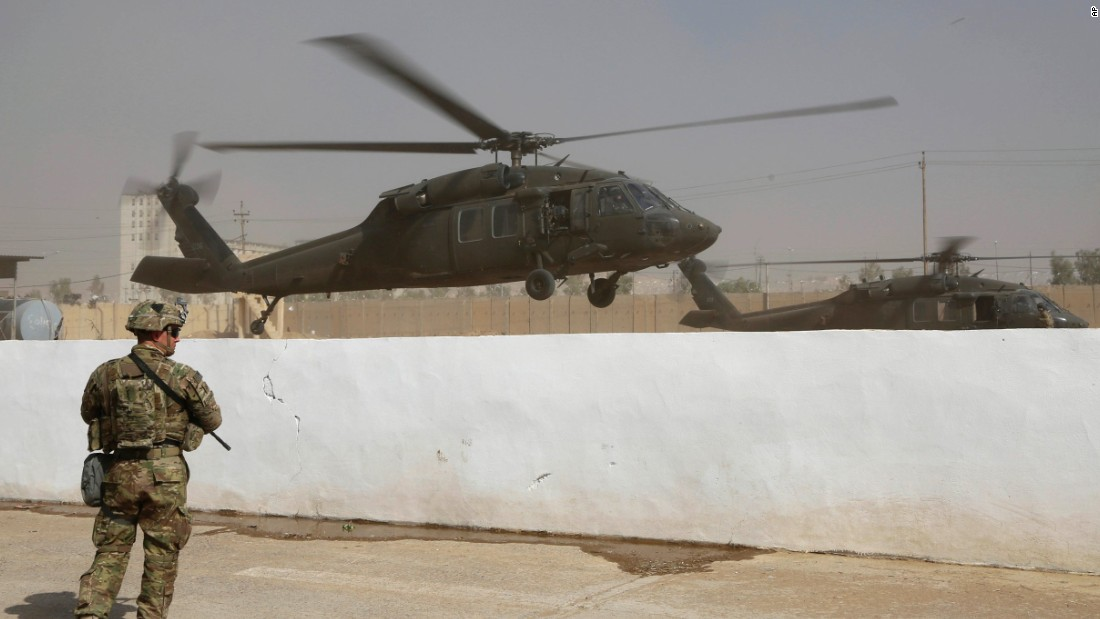 "A coalition helicopter takes off from a base outside <a href=""http://www.cnn.com/2016/10/17/world/gallery/mosul/index.html"" target=""_blank"">Mosul, Iraq,</a> on Wednesday, October 19. An Iraqi-led offensive is underway to reclaim the largest region of Iraq under ISIS control. The coalition against ISIS includes Iraqi, Kurdish and American forces."