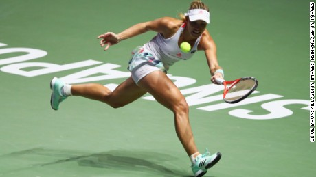 Angelique Kerber cruised past Agnieszka Radwanska to reach the WTA Finals in Singapore.