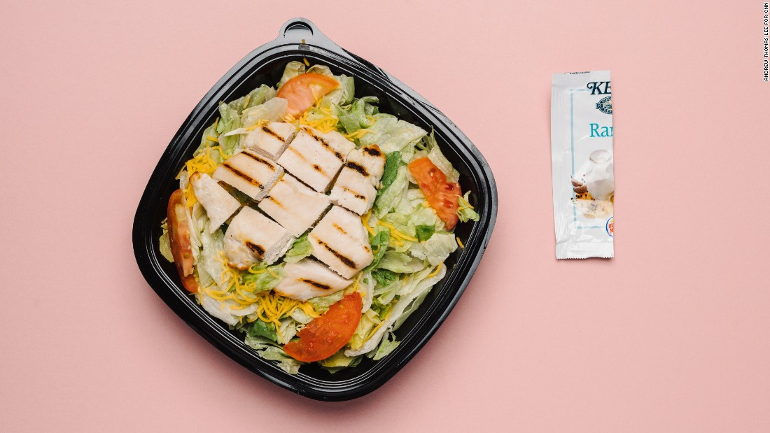 The garden grilled chicken salad with Tendergrill chicken has just 1 teaspoon of sugar and is one of the lowest-sugar items on BK's menu. The ranch dressing has only 1 gram of sugar per packet, but using half a packet will help cut down sodium.