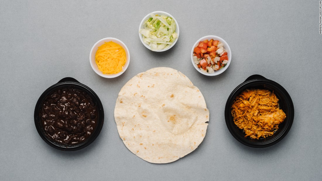 With Taco Bell's Fresco shredded chicken taco, you get a healthy dose of protein -- 10 grams -- for a relatively small number of calories. Add black beans for just 80 calories and 5 grams of filling fiber.