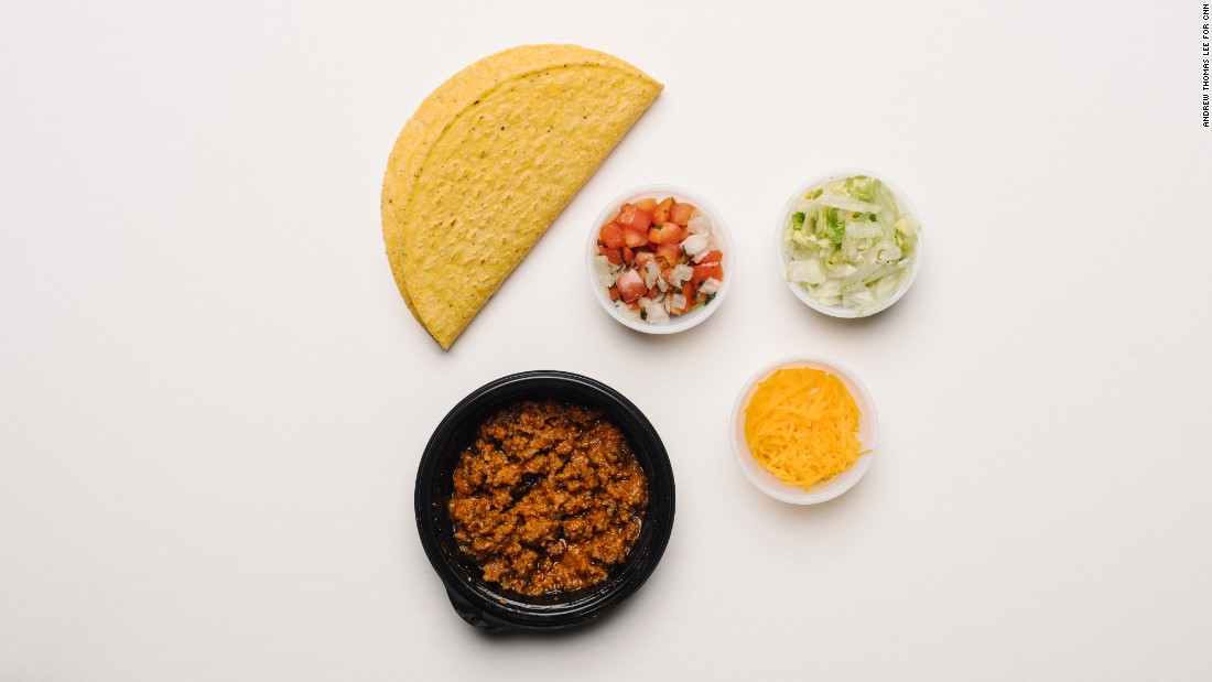 The Fresco beef crunchy taco has only 300 milligrams of sodium. We were pleasantly surprised to see that the crunchy taco shell itself is essentially sodium-free.