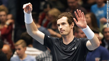 Andy Murray triumphs in the Vienna Open event as he beats Jo-Wilfried Tsonga in the final.