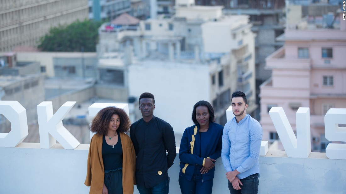 "From left to right, Dakar Lives founders Olivia Codou Ndiaye, Mamadou Wane aka ""Papi"", Mamy Tall and Marouane Gasnier. The start up uses Instagram and an online lifestyle platform to promote Senegalese culture and tourism."