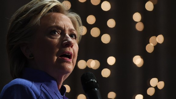 US Democratic presidential nominee Hillary Clinton speaks during a prayer service at the New Mount Olive Baptist Church in Fort Lauderdale, Florida, on October 30, 2016.