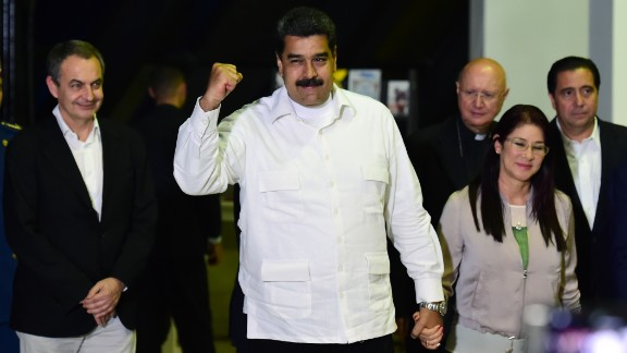 Venezuela's President Nicolas Maduro, before Vatican-backed talks between his government and opposition leaders.