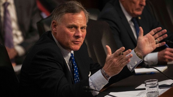 Chairman Richard Burr (R-NC) speaks during the Senate (Select) Intelligence Committee hearing at the Hart Senate Building on February 9, 2016 in Washington, D.C.