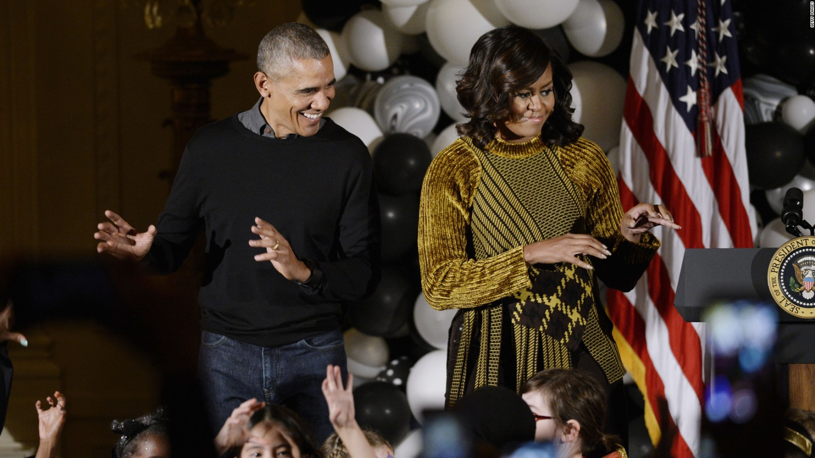 Obamas dance to 'Thriller' at White House Halloween - CNN Video