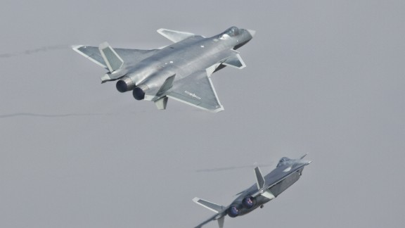 J-20 stealth fighters of the Bayi Aerobatic Team of PLA