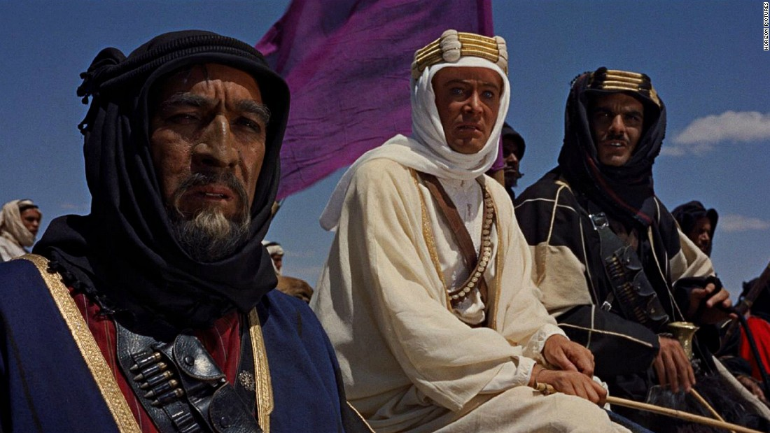 "Morocco's studios have been popular in Hollywood for a long time. Among the earliest classics shot here are Alfred Hitchcock's ""The Man Who Knew Too Much"", Orson Welles' ""Othello"" and ""Lawrence of Arabia"", starring Peter O'Toole, pictured here in the middle."