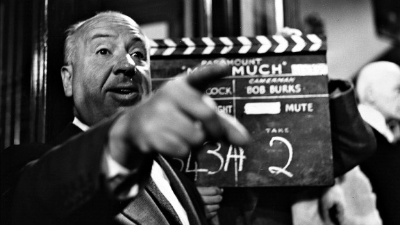 Alfred Hitchcock filming The Man Who Knew Too Much in 1955, a remake of his 1934 spy thriller.