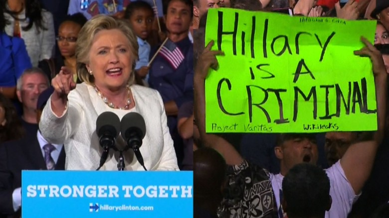 Hillary Clinton responds to protester