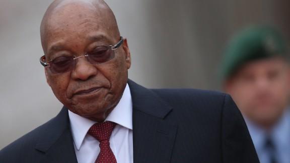 South African President Jacob Zuma in Berlin, Germany, in November 2015.