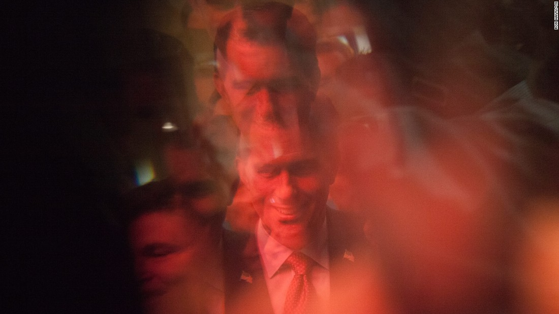 "Wisconsin Gov. Scott Walker is reflected by glass before speaking at a leadership summit in Nashua, New Hampshire, on April 18, 2015. Walker, who rose to national fame by taking on unions in one of the most blue-collar states, <a href=""http://www.cnn.com/2015/07/13/politics/scott-walker-2016-presidential-announcement/"" target=""_blank"">officially became a presidential candidate three months later.</a>"