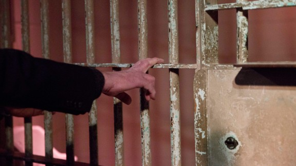 "While visiting the Civil Rights Institute in Birmingham, Alabama, on January 18, 2016, Sanders touches the actual jail bars that the Rev. Martin Luther King Jr. was behind when he wrote his ""Letter from Birmingham Jail"" in 1963."