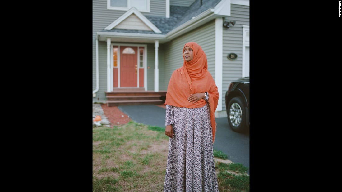 "<strong>Fatuma Hussein, 39, lives in Lewiston, Maine, and fears never having a place to belong.</strong> There is tension in Lewiston between the natives and the growing Somali population. Hussein is frustrated by the lack of acceptance. ""When you're Muslim, when you're black, when you're a woman, when you're an immigrant, it's just so many layers of barriers that are against you -- and it's very, very painful. And for me, how I deal with it is determination, I think. Remember we are starting from a place of historical trauma, crazy war, all kinds of stuff, right? And you come here and you want to start your life over again, but it's just so scary. ... The American Dream is not a reality for us. So where do we belong, you know?"""