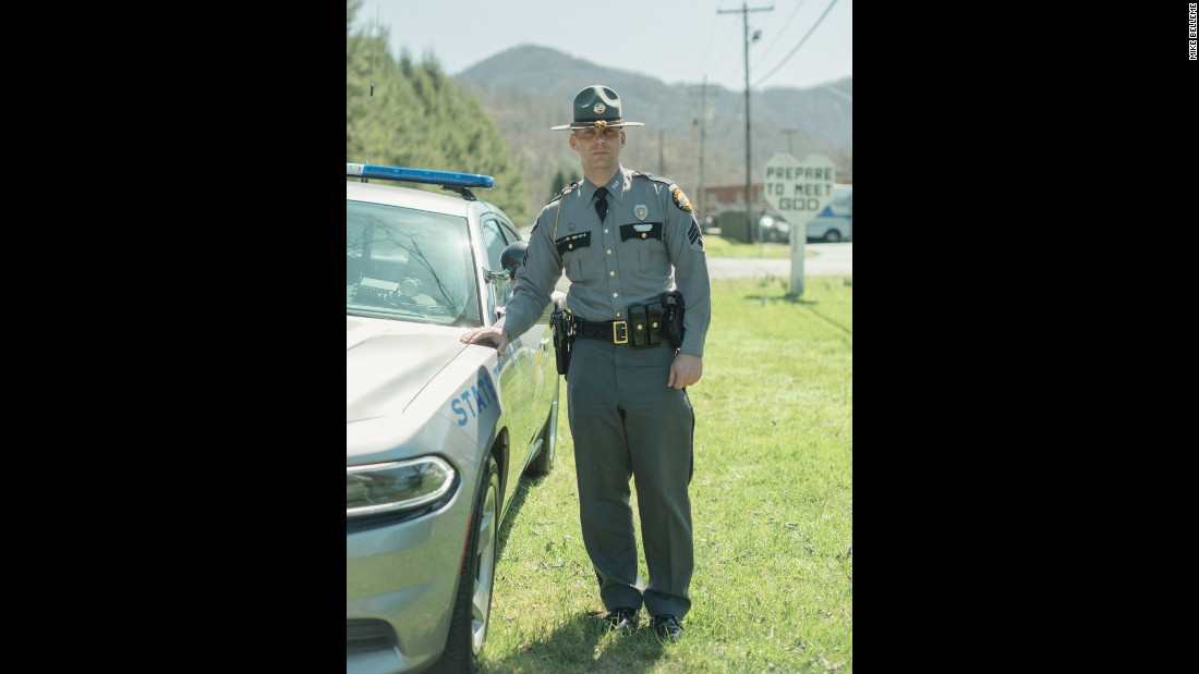 "<strong>State Police Sgt. Rob Farley, 39, of Harlan, Kentucky, fears an inability to express love to his family and friends. </strong>He is aware that police may have a tarnished reputation, but he believes that is grounded in isolated incidents. Instead, his fears have to do with being a good Christian and a good family man. ""My biggest fear is expressing to the ones in my inner circle, my family and friends, that I love them,"" he told Belleme. ""I don't want to fail in that aspect of my life. My kids know that I love them, but I'm not a very open person. As a police officer, I don't express emotions and whatnot."""