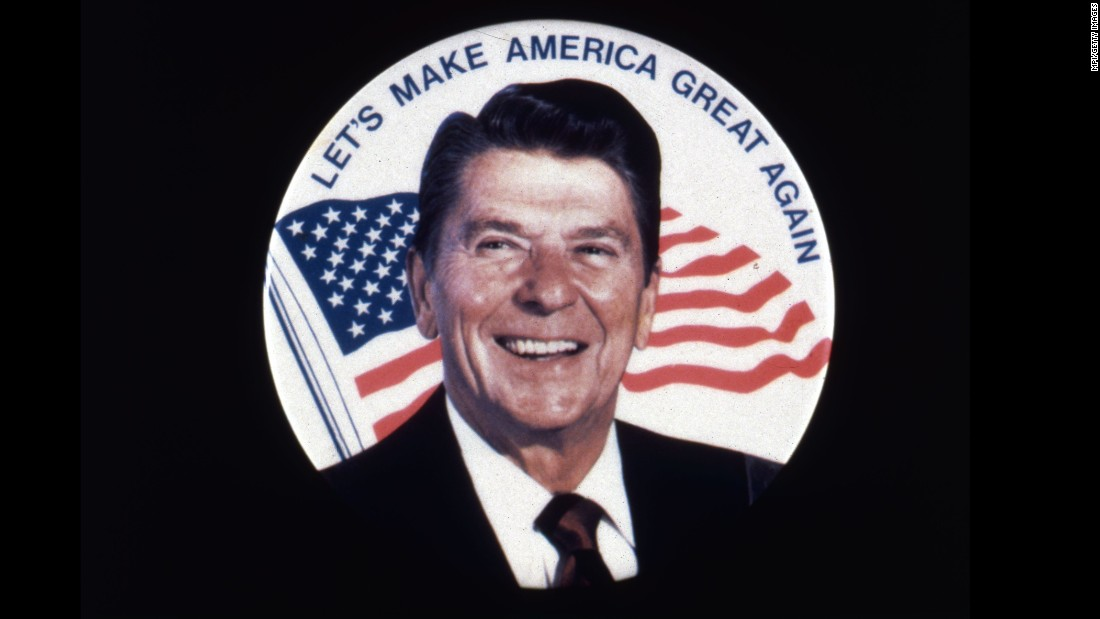 "Republican presidential nominee Donald Trump has promised to ""make America great again,"" but the slogan was first used by Ronald Reagan as he ran against President Jimmy Carter in 1979."