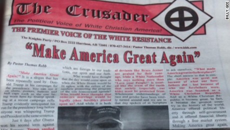 kkk newspaper trump endorsement