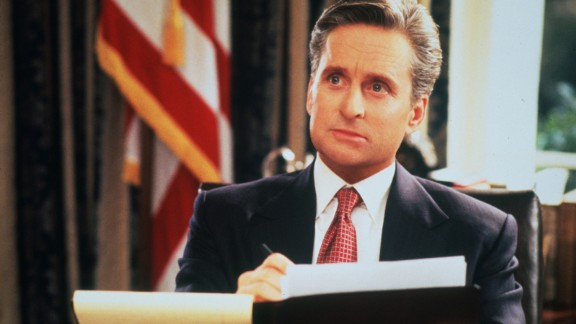 """<strong>""""The American President""""</strong> is a romantic drama/comedy starring Michael Douglas as the chief commander who falls in love with a lobbyist."""