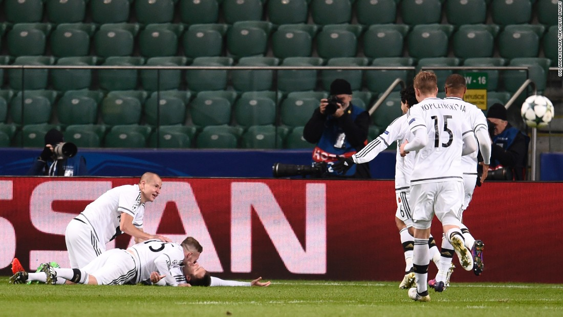 Far from providing a wake-up call to Real, Legia continued to dominate in the second half and was rewarded for its endeavors as Miroslav Radovic's shot skidded under the hands of Keylor Navas.