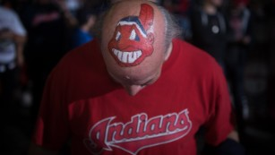 Chief Wahoo has been sidelined. Redskins, you're up.