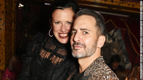 LONDON, ENGLAND - SEPTEMBER 19:  Katie Grand (L) and Marc Jacobs attend the LOVE Magazine and Marc Jacobs LFW Party to celebrate LOVE 16.5 collector's issue of LOVE and Berlin 1989 at Loulou's on September 19, 2016 in London, England.  (Photo by David M. Benett/Dave Benett/Getty Images for LOVE / CONDE NAST)