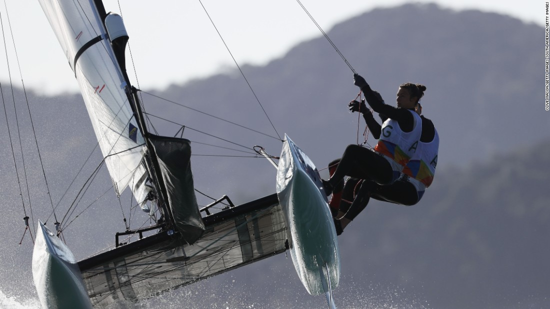 In a dramatic regatta, he and Carranza Saroli were penalized and looked set to miss out on gold before winning it by a single point.