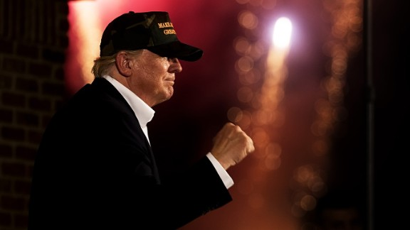 ORLANDO-- NOV 2: , 2016. Republican presidential candidate Donald Trump at a rally in Pensacola, Florida, November 2, 2016. Trump supporters.   (Photo by David Hume Kennerly for CNN)