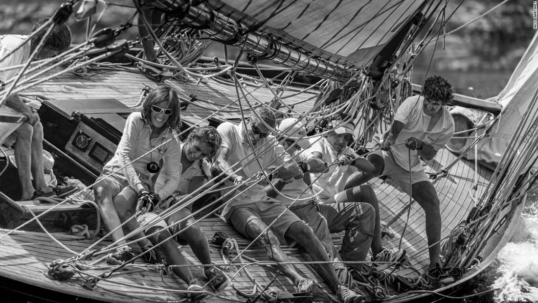 Nico Martinez captured the essence of team effort on board Marigan during the XXIII Regata Illes Balears Clássics in Mallorca, Spain, earning him a top ten place.