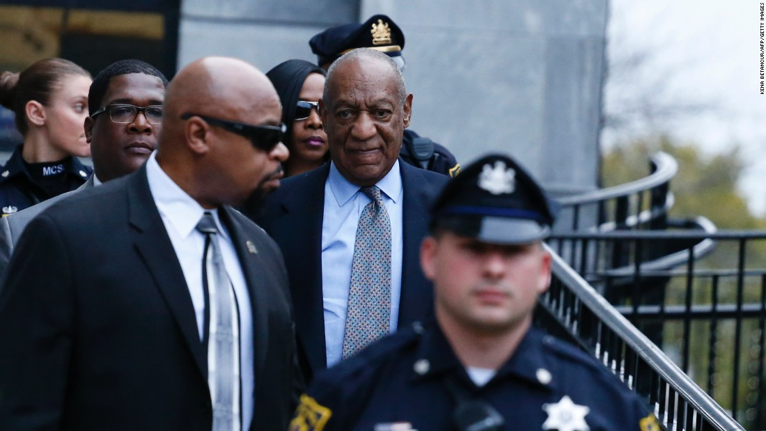 "Comedian Bill Cosby leaves the Montgomery County Courthouse after attending a pretrial hearing in <a href=""http://www.cnn.com/2016/09/06/us/bill-cosby-sex-abuse-hearing/"" target=""_blank"">the sexual assault case against him</a> in Norristown, Pennsylvania, on Tuesday, November 1. Cosby has pleaded not guilty to three counts of felony aggravated indecent assault."