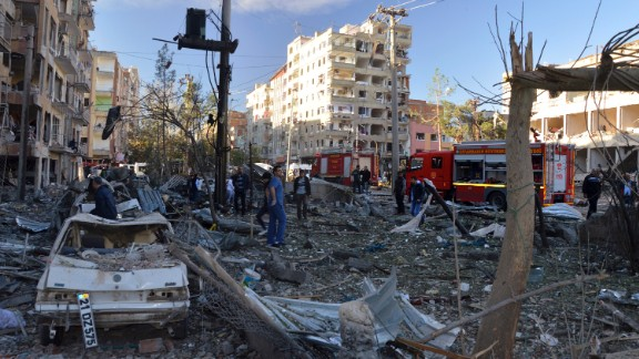 A large explosion hit the largest city in Turkey's mainly Kurdish southeast region, Anadolu reported.